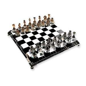 Silver plated and Gold plated Crystal Chess Set Jewelry