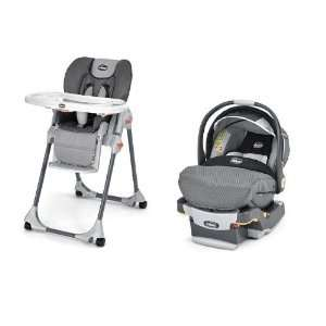 Chicco High Chair & Key Fit Car Seat in Graphica Baby
