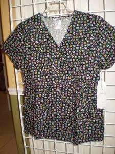 NEW CHEROKEE STUDIO B MOCK WRAP SCRUB TOP