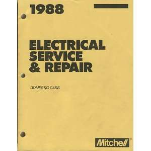 1988 Mitchell Electrical Service & Repair Domestic Cars