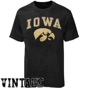 Iowa Hawkeyes Black Big Arch n Logo T shirt: Sports
