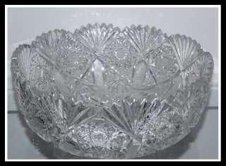 Big Antique American Brilliant Cut Glass Bowl ABP