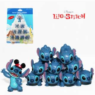 Cute 10x DISNEY Lilo&Stitch Figure Collection Set