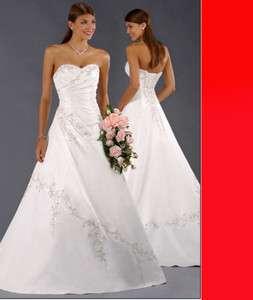 Stock White Bridal Wedding Evening dress SZ6 8 10 12 16