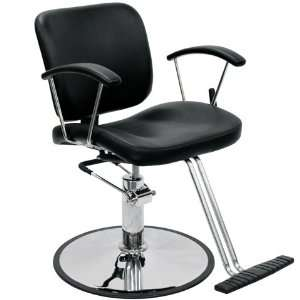 Contemporary Black Reclining Styling Chair Beauty