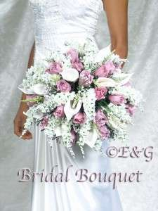 Wedding Bouquets Bouquet Bridal Bridesmaid Silk Flowers ANNA BELL ROSE