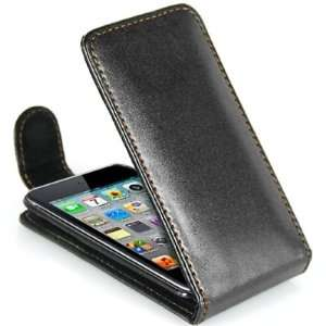 Black Flip Leather Case for Apple iPod Touch 4th GEN
