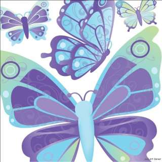 Blue Dreamy Butterflies Wall Sticker Decals boys/girls |