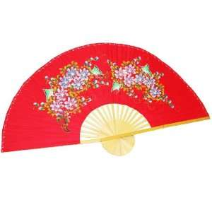 Hand Painted Fan J F 35 44 35 Home & Kitchen