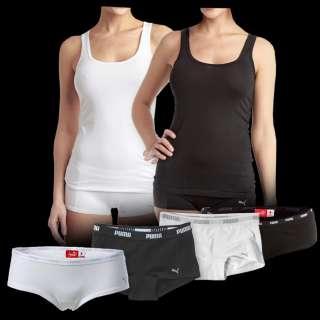 2x Puma Damen Unterwäsche Hipster / Mini Boxer Shorts / Tank Top NEU
