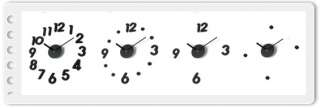 DIY WALL CLOCK home Interior deco Adhesive Numbers ^^