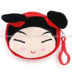 Pucca Head Shaped Coin Purse Wallet Plush Pouch  Toys & Games