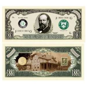 James Garfield Million Dollar Bill Case Pack 100 Toys & Games