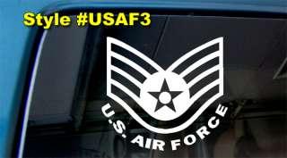 ARMY DECAL STAR AIR FORCE STICKER G6 INSIGNIA USAF