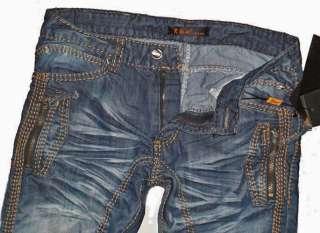kosmo lupo k m herren vintage cargo jeans hose mit dicken n hten. Black Bedroom Furniture Sets. Home Design Ideas