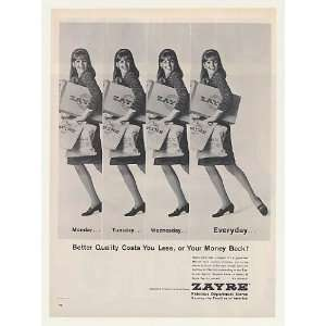 1966 Zayre Department Store Better Quality Lady Shopper