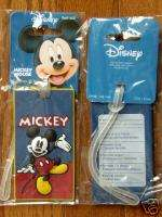 New Disney Mickey Mouse Luggage ID Tag Bag Suitcase Kid