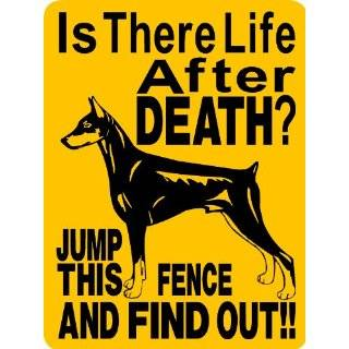 DOBERMAN PINSCHER ALUMINUM GUARD DOG SIGN 2652DP2