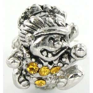 Silver Plated Running Boy Charm Bead for Pandora/Troll/Ch Jewelry
