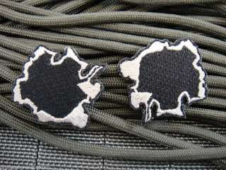 LOT/ 2 Black/Silver Bullet Hole Velcro Patch ill Gear
