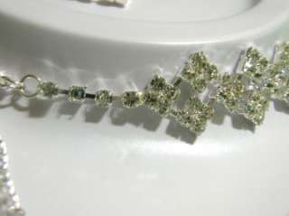 CHOKER NECKLACE SET Rhinestones Wedding Cocktail BRIDE