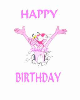 PINK PANTHER EDIBLE CAKE TOPPER DECORATION