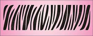 XL STENCIL Zebra Stripes Border Animal Safari Art Signs