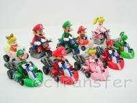 New Mario Bros 2 Lot 10 Kart Pull Back Car Figure/MR61