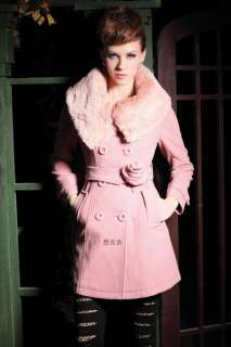 NEW Womens Winter Wool Double breasted Long Trench Coat Jacket 1256