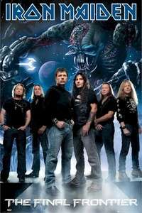 MUSIC POSTER ~ IRON MAIDEN GROUP POSE FINAL FRONTIER