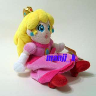 NEW 20cm Super Mario Princess Peach Plush Doll Figure