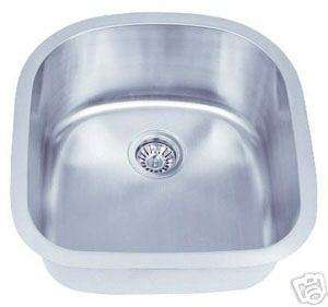 Single Bowl Undermount Kitchen Stainless Steel Sink 052