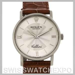 Rolex Cellini Classic Mens 18K White Gold 5115