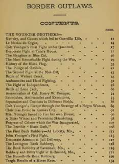 Border Outlaws James & Younger Brothers Book 1881