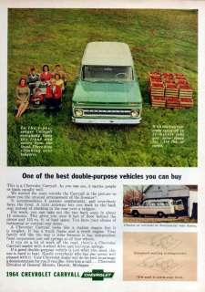 1964 Chevy Suburban Carryall Original Color Ad