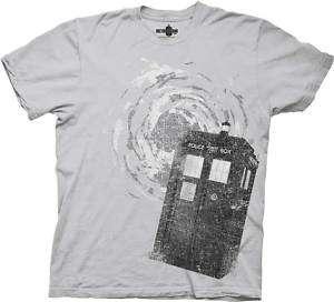 Dr Who Tardis Public Police Call Box T Shirt Large