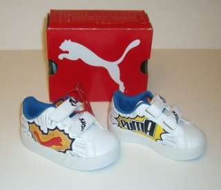Toddler baby boys Puma light up shoes size 5, New with box |
