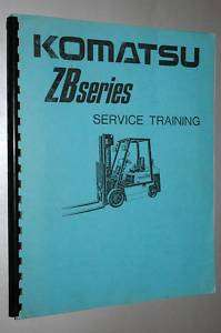 KOMATSU SERVICE TRAINING MANUAL BOOK ZB SERIES