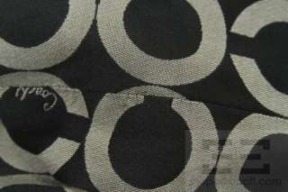 Coach Black Sateen Op Art Monogram Large Kristin Hobo Bag