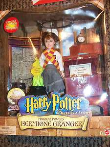 HARRY POTTER HERMOINE GRANGER MAGICAL POWER DOLL NIB