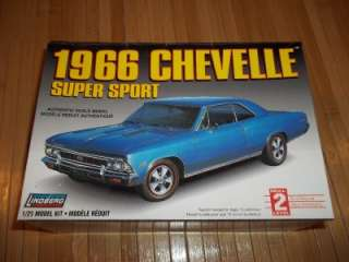 Lindberg 1966 Chevelle Super Sport 125 Model Kit 1998 Complete NEW 44
