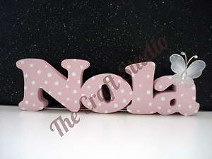 Large Real Wood Personalised Name Plaque Sign Boys & Girls Newborn