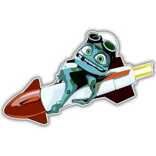 Crazy Frog car bumper sticker decal 6 x 3