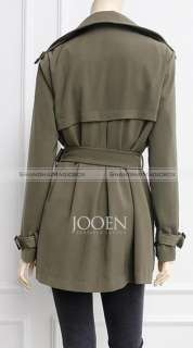 Women Fashion Classic OL Turndown Collar Trench Coat Jacket Outwear