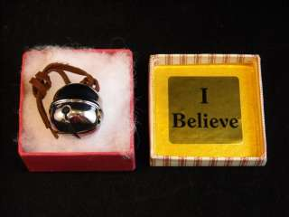 SILVER Polar Express Sleigh BELIEVE Bell elf deco box