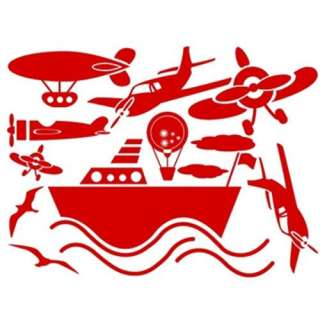 GP 27 SHIP AIRPLANE Vinyl Graphic Wall Art Deco Sticker