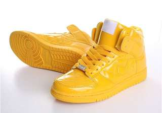 Men High Top Sneakers Shoes Trainer Yellow US 7~10