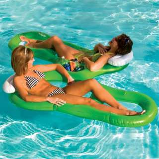 INFLATABLE POOL LAKE TUBE MESH FLOAT RAFT BEACH LOUNGER