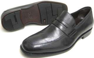 Johnston Murphy Mens Dress Shoes Black Leather Suffolk Penny Loafers