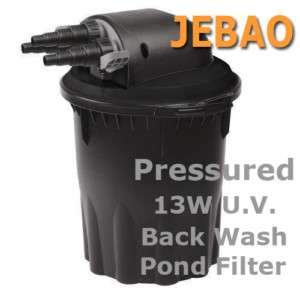 Pond Pressured Filter UV BIO FILTER 4000gal Easy Clean